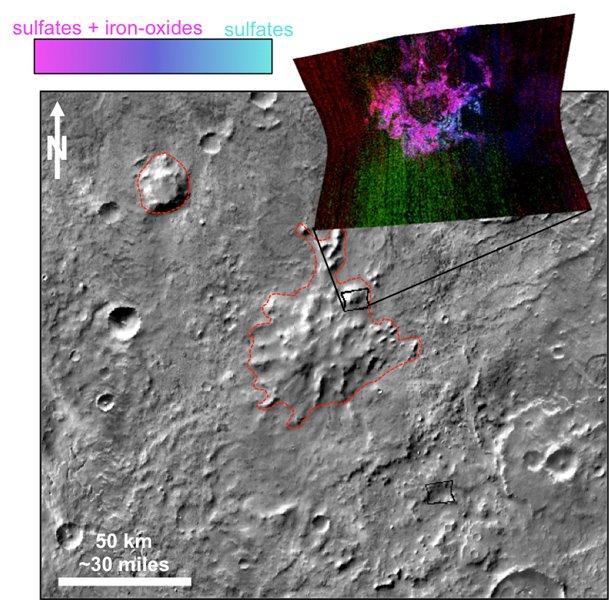 Найдены древнейшие вулканы, извергавшиеся подо льдом марсианского полюса