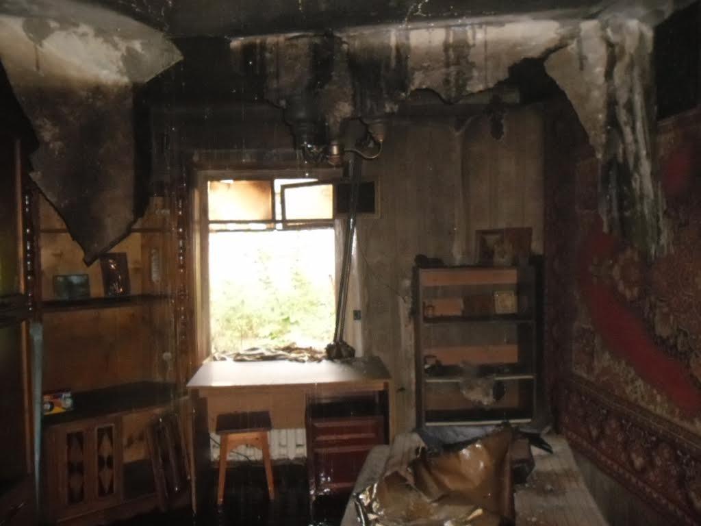 Утром вКирове произошел пожар в личном доме