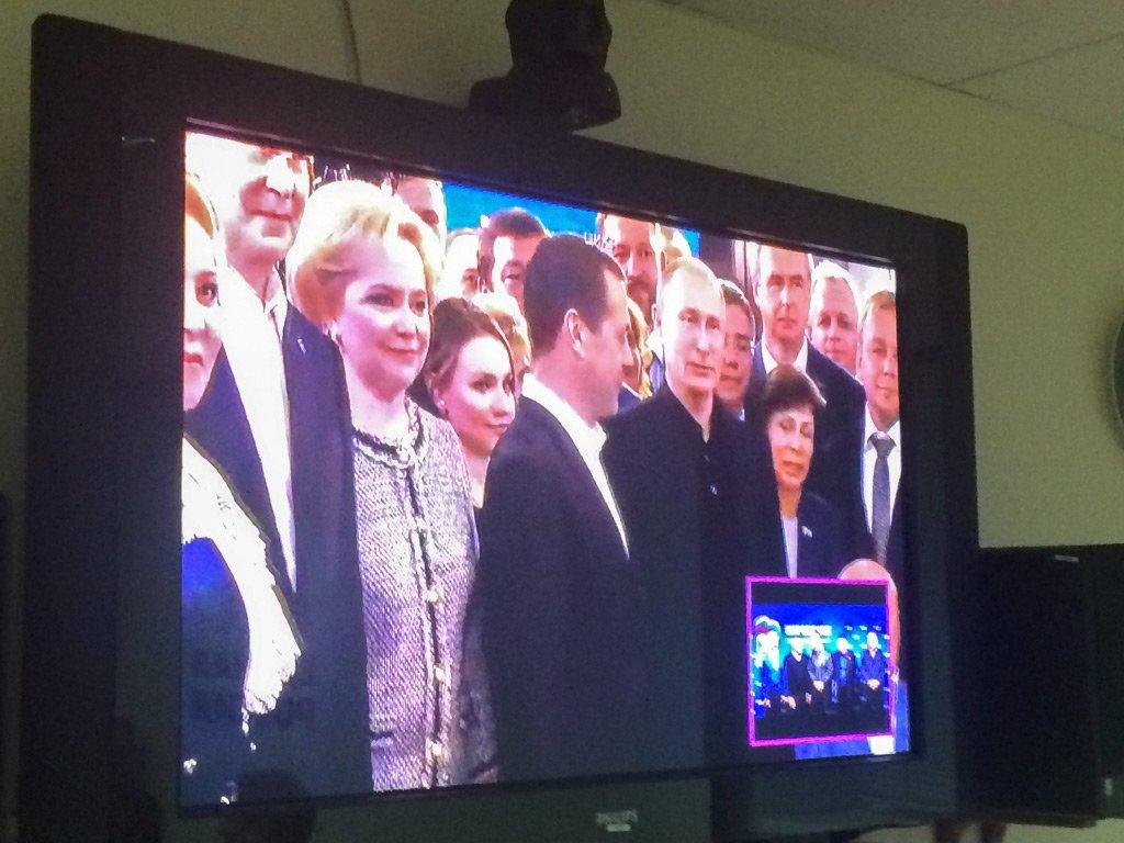 Путин прибыл вштаб «Единой России»: «Результат хороший»