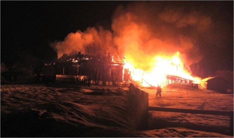 ВКировской области впожаре погибли четверо мужчин