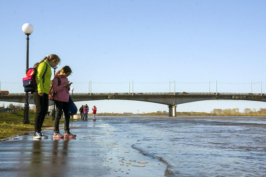 Засутки уровень воды вВятке поднялся на10см
