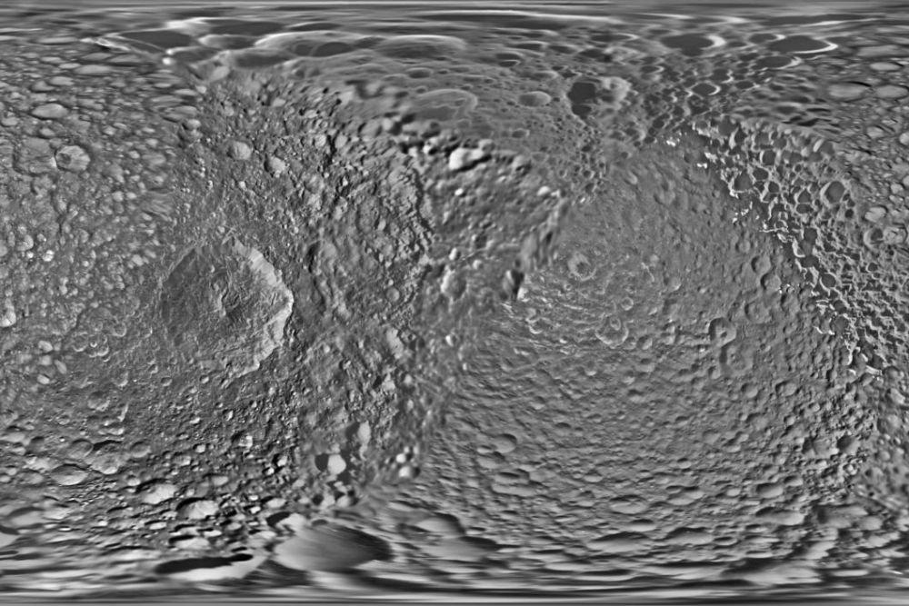 NASA обновили карту «Звезды смерти» Мимаса впервый раз с2012 года