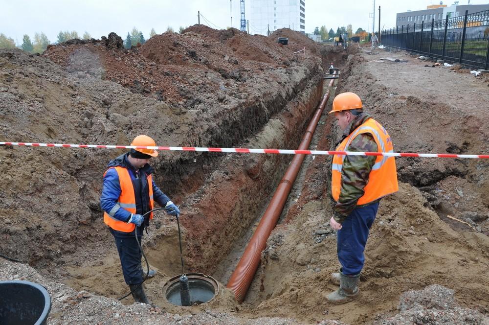 «Кировские коммунальные системы» строят ливневую канализацию для детского сада вУрванцево